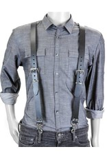 Leather Buckle Suspenders