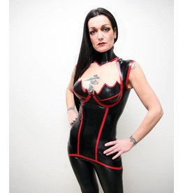DeMask Latex Venus Mini Dress w/ Shoulder Straps
