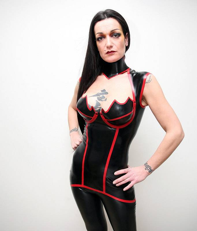 DeMask Latex Venus Mini Dress w/ Shoulder Straps