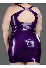 Latex Front Zip Cocktail Dress