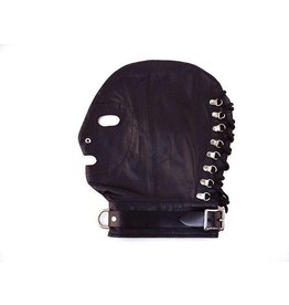 Rouge Leather Hood w/ Collar - One Size