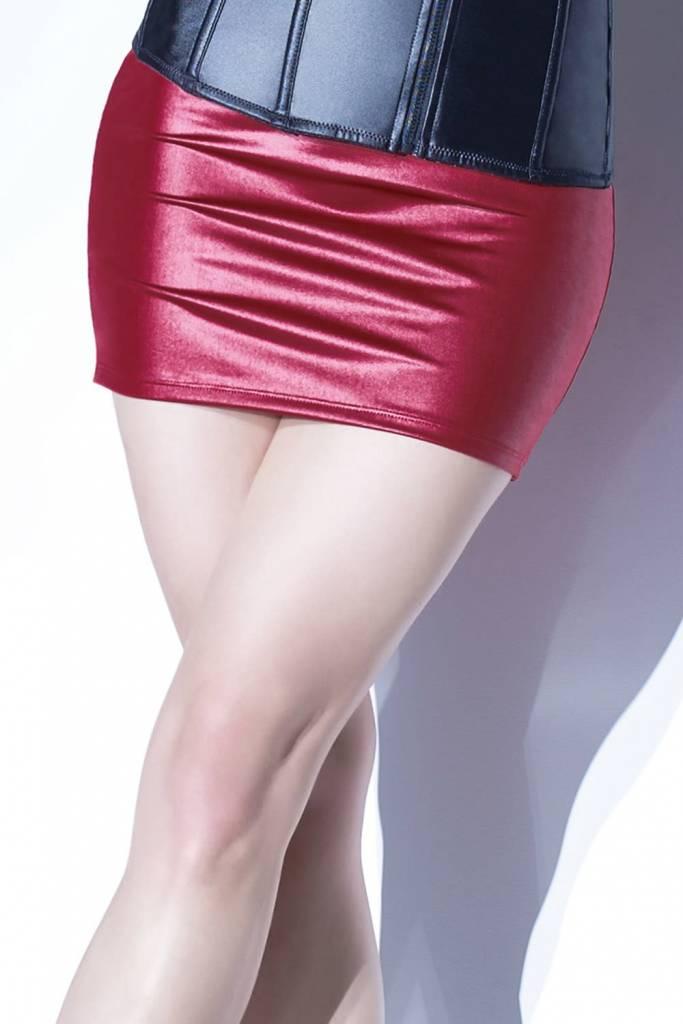 Matte Wetlook Mini Skirt