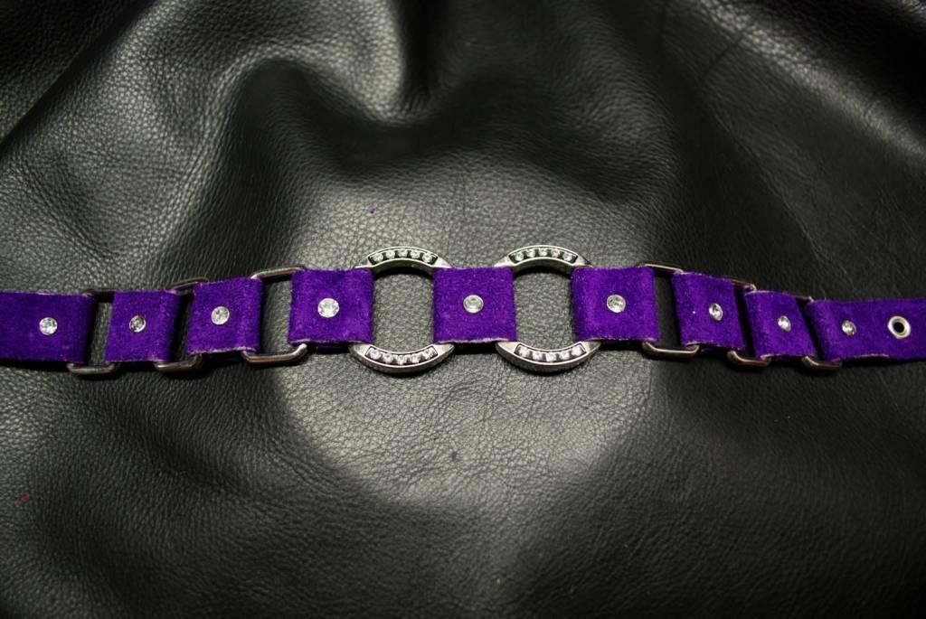 2-Bling Cirque Woven Collar