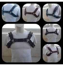 Stitched Leather Bulldog Harness