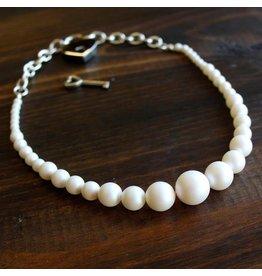 Restrained Grace Swarovski Pearl Day Collar