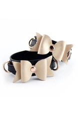 Restrained Grace RG Leather Bow Cuffs