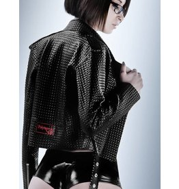 DP Textured Latex Perfecto Motorcycle Jacket