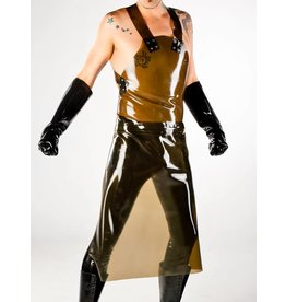 Latex Long Apron w/ Zipper