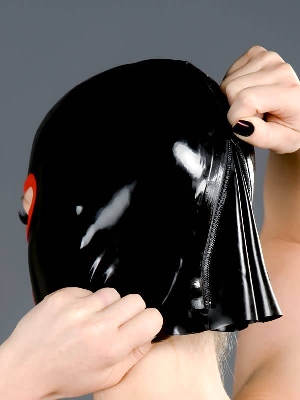 Latex Hood w/ Rounded Eyes Nose and Mouth
