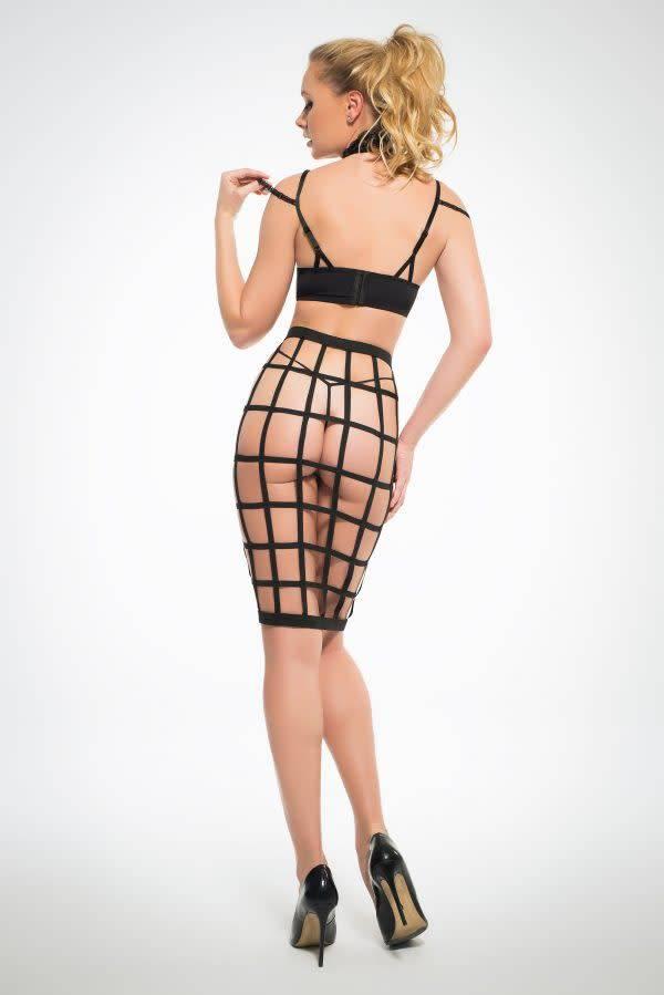 Leia Luscious Cage Skirt w/ Lace Bra