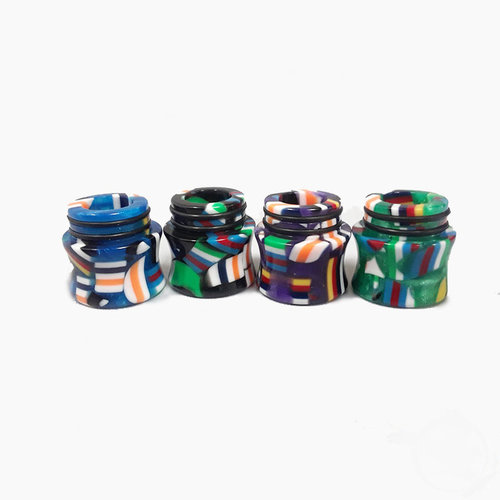 AVCT Resin 810 Drip Tips - FLUTED TFV8 / TFV12 Prince / Big Baby / X-Baby / Resa Prince / UFORCE T2 - Assorted Colors