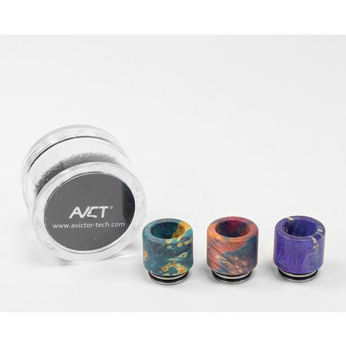 AVCT AVCT High-End Stabilized Wood And Stainless Steel Standard 810 Drip Tips - Assorted Colors