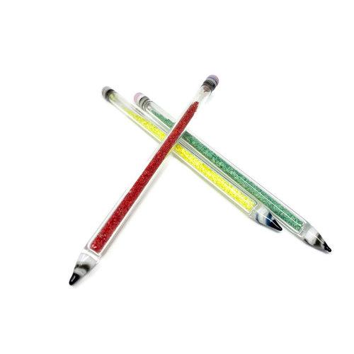 Glass Dab Tool - Glitter Filled Pencil