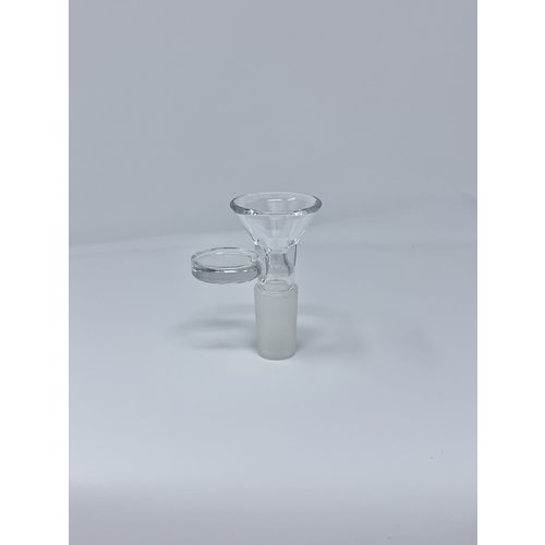 14mm Male Clear Glass Bowl w/ Handle