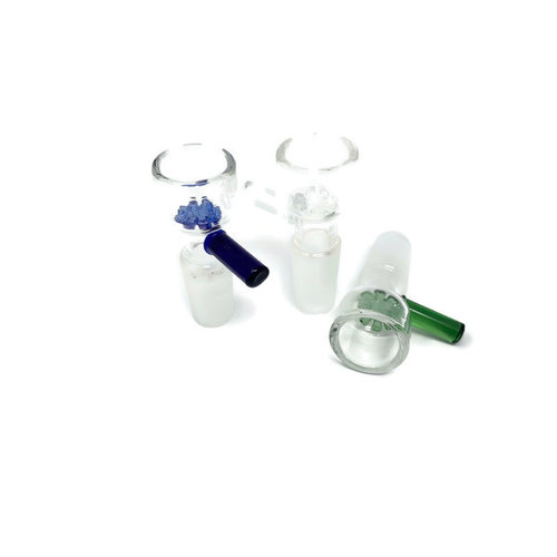 14mm Male Glass Bowl w/ Built in Screen and Handle