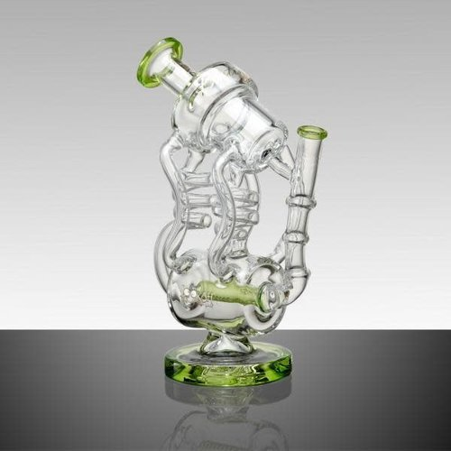 Lookah Glass Lookah Glass - 11' Double Coil Design Dual Chamber Glass Water Pipe With Inline Perc
