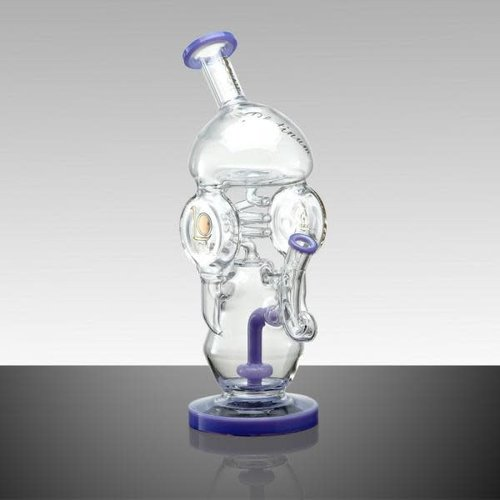 Lookah Glass Lookah Glass - 13' Half Dome Multi Chamber Glass Recycler With Shower Head Perc