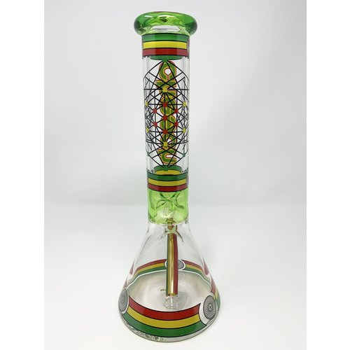 "Cheech Cheech - 16"" Beaker Colored Line Work"