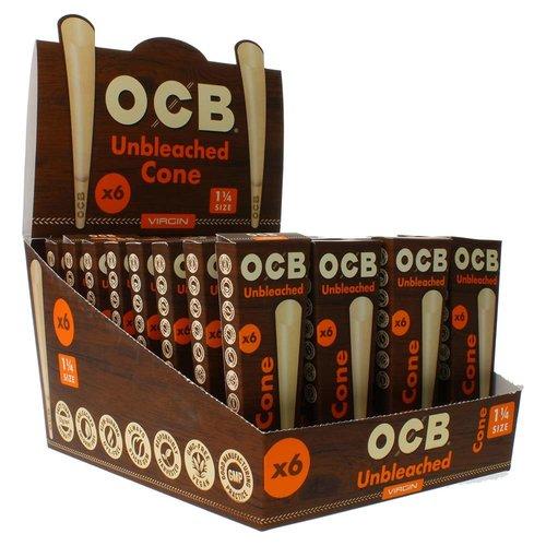 OCB OCB Virgin Unbleached Cone 1 1/4 - 6pk