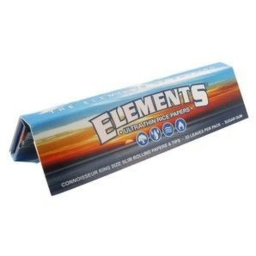 Elements ELEMENTS ULTRA RICE PAPER KING SIZE REG ROLLING PAPERS