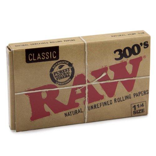 RAW RAW *ORGANIC HEMP* 300'S BLOC ROLLING PAPERS 1 1/4