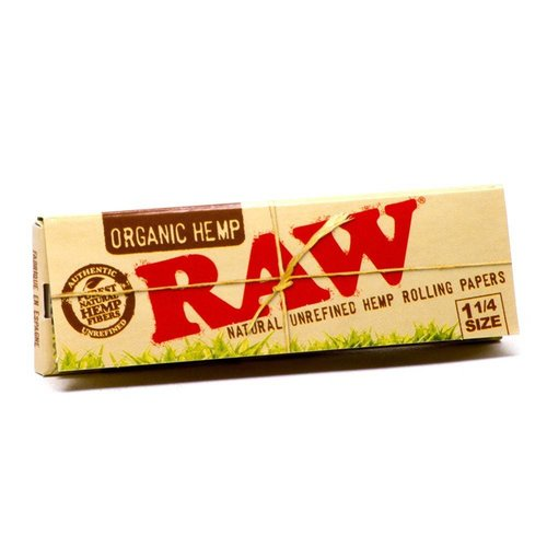 RAW RAW *ORGANIC HEMP* PAPERS ROLLING PAPERS 1 1/4