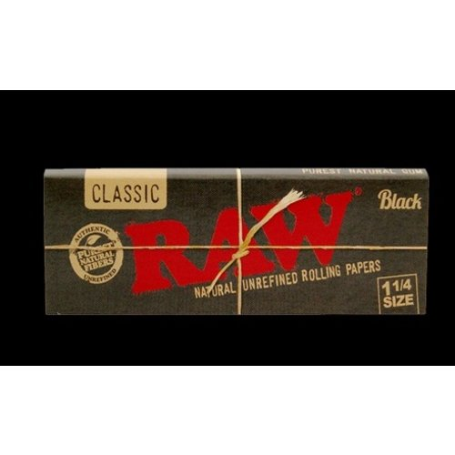 RAW RAW CLASSIC BLACK ROLLING PAPERS 1 1/4