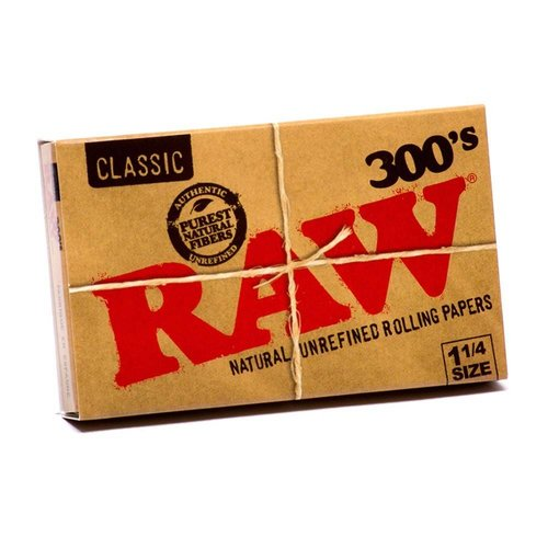 RAW RAW CLASSIC 300'S BLOCK ROLLING PAPERS 1 1/4