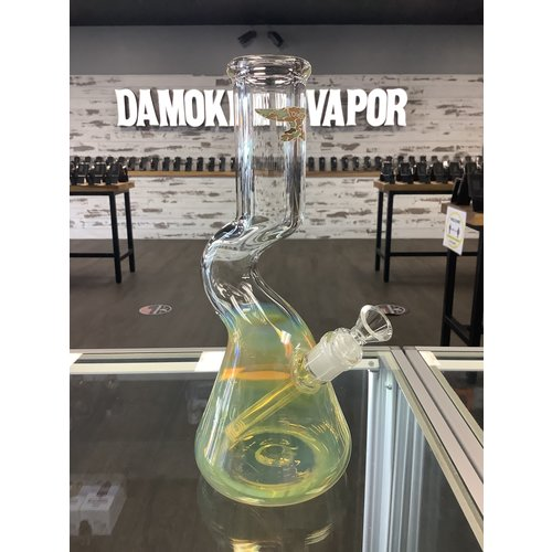 SolidGlass Hand-Blown Curved Neck Fumed Waterpipe
