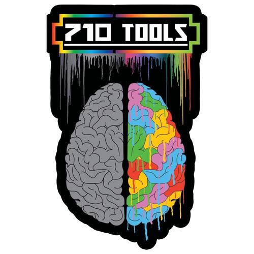 "710 Tools 710 Tools Silicone Mat - Dab Brain 5x8"""