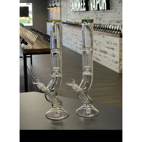 """Hydros HYDROS USA Made Waterpipe- 17"""" Shorty Curved Base"""