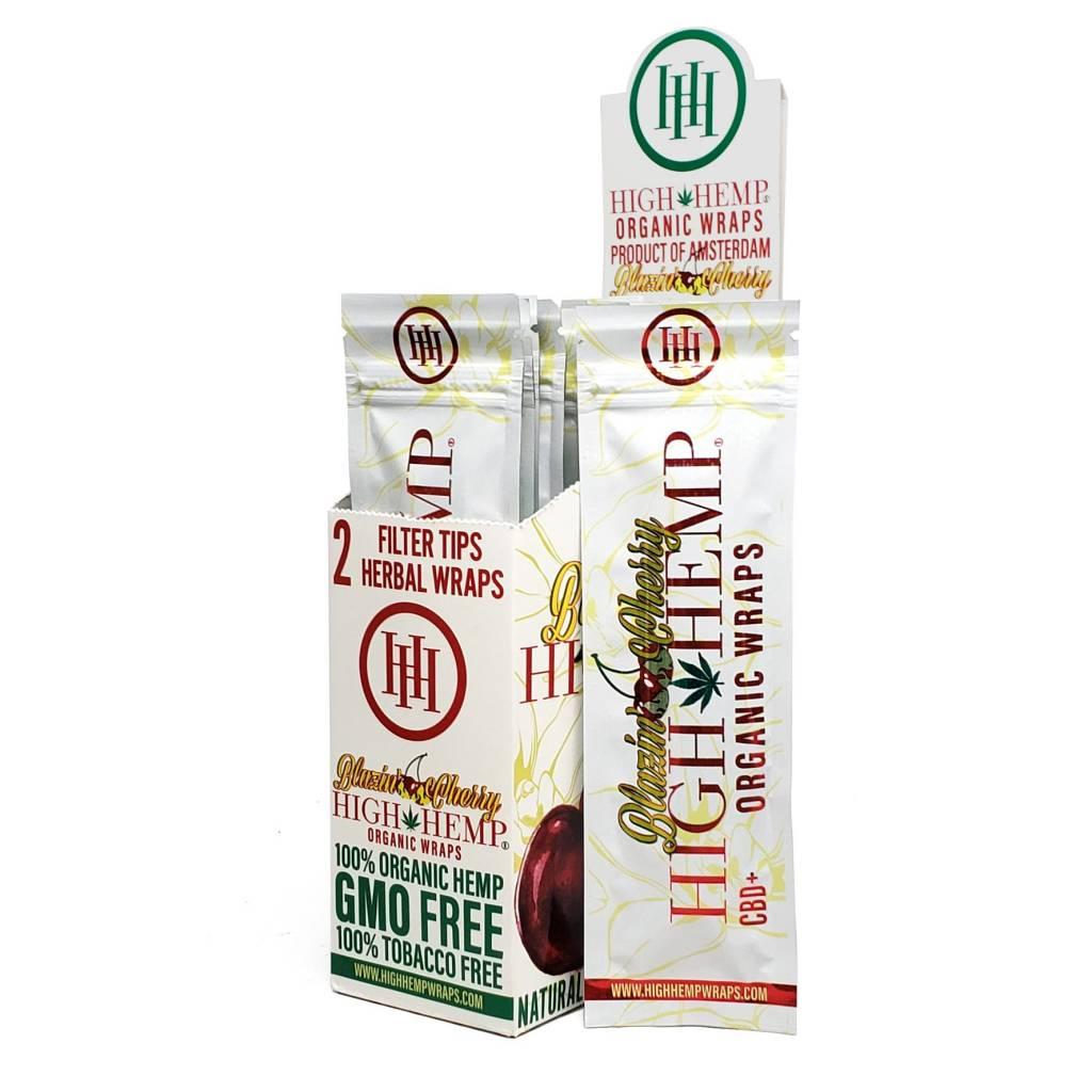 High Hemp Blazin Cherry Herbal Wraps