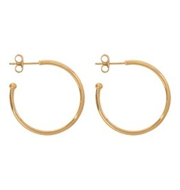 Nikki Lissoni 28mm Gold Plated Hoop Earrings