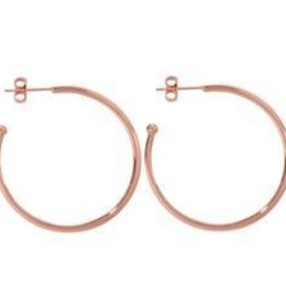 Nikki Lissoni 35mm Rose Gold Plated Hoop Earrings