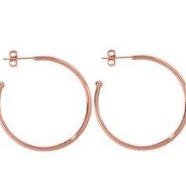 Nikki Lissoni 35mm Rose Gold Plated Hoop Earrings