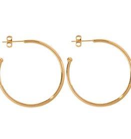 Nikki Lissoni 35mm Gold Plated Hoop Earrings