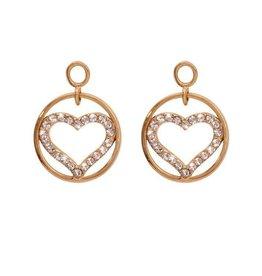 Nikki Lissoni Sparkling Heart' Gold Earring Coins