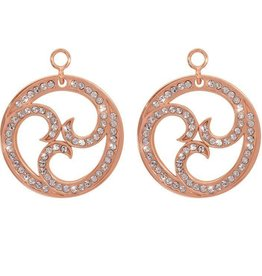 Nikki Lissoni Sparkling Curls' Rose Gold Earring Coins