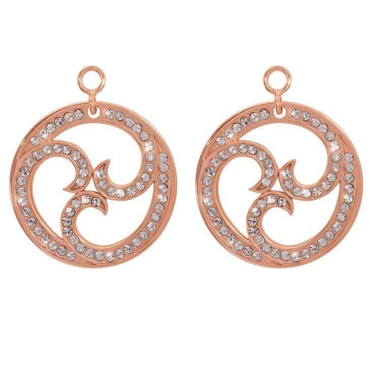 Nikki Lissoni Nikki Lissoni 'Sparkling Curls' Earring Coins - EAC2023RG