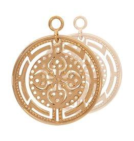 Nikki Lissoni Roman Maze' Gold Earring Coins