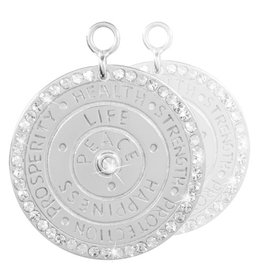 Nikki Lissoni Wisdom of Words' Silver Earring Coins