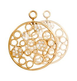 Nikki Lissoni Snowballs in Winter' Gold Earring Coins