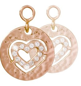 Nikki Lissoni Small Heart' Rose Gold Earring Coins