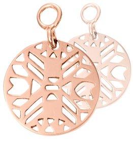 Nikki Lissoni 'Wild Spirit' Rose Gold Earring Coins