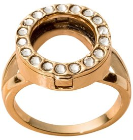 Nikki Lissoni Interchangeable  Coin Ring - Gold Sz 8