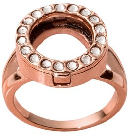 Nikki Lissoni Interchangeable Coin Ring - Rose Gold Sz 6