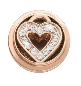 Nikki Lissoni Love Keeper' Rose Gold Ring Coin