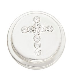 Nikki Lissoni 'Sparkling Cross' Silver Ring Coin