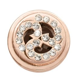 Nikki Lissoni Sparkling Curls' Rose Gold Ring Coin