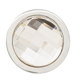 Nikki Lissoni Faceted Swarovski Crystal' Silver Ring Coin